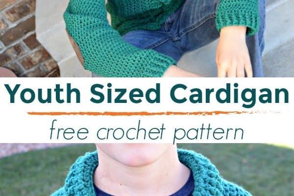 Cozy Classroom Size 10/12 Cardigan Crochet Pattern