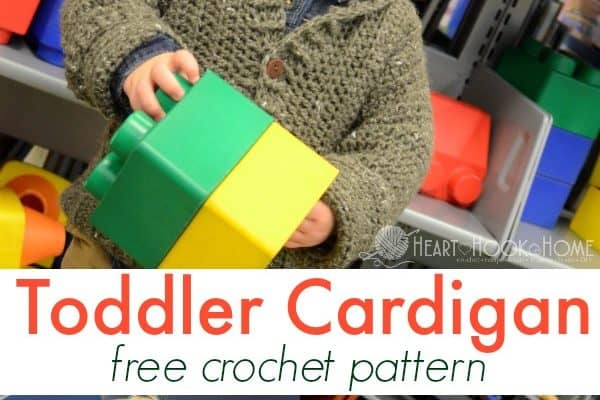 Cozy Classroom Toddler Cardigan Crochet Pattern – 2/3T