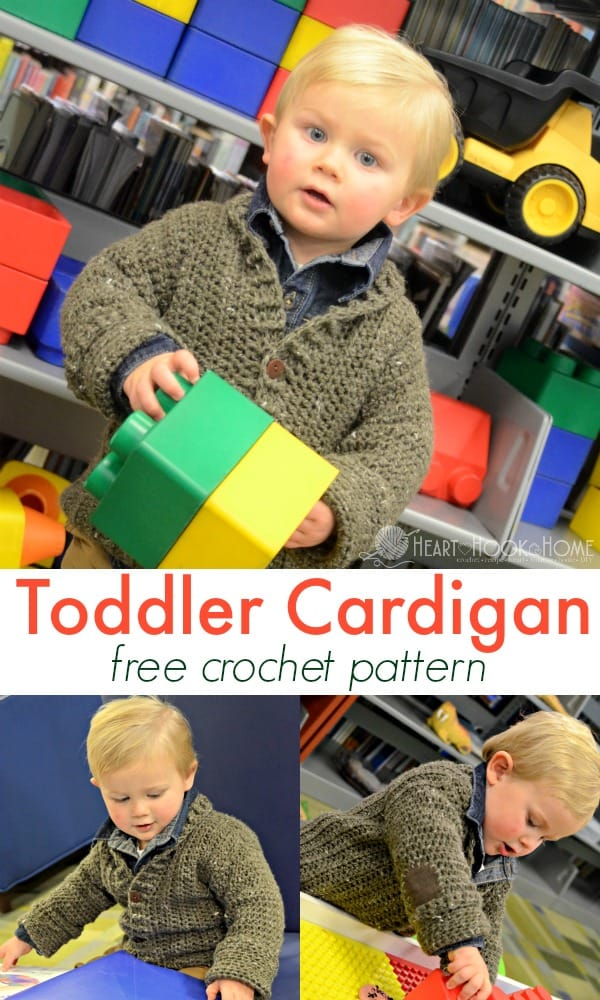 Toddler Cardigan free crochet pattern
