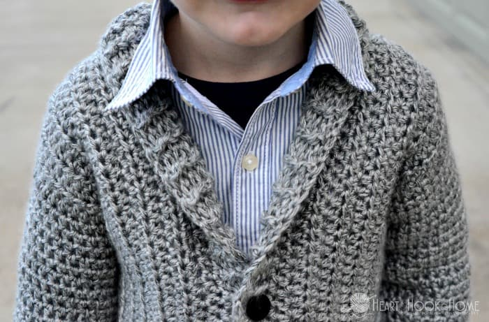 boys cardigan crochet free pattern