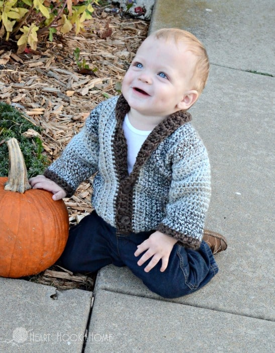 crochet cardidgan patterns for boys