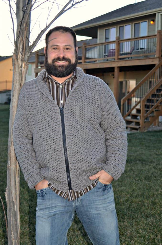crochet cardigan for men