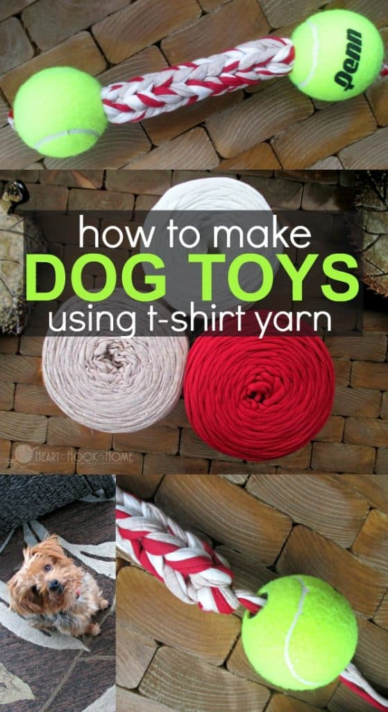 How to Make Dog Toys Using T-Shirt Yarn