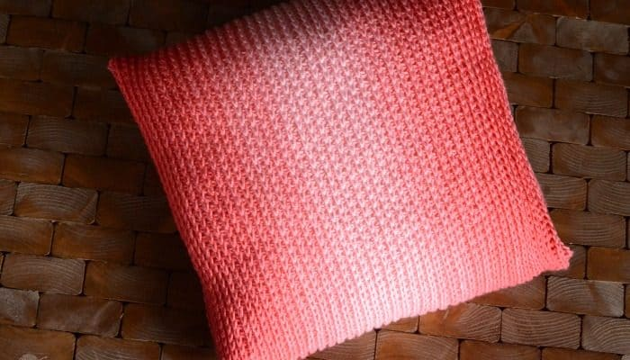 Sea Coral Red Heart Ombre yarn