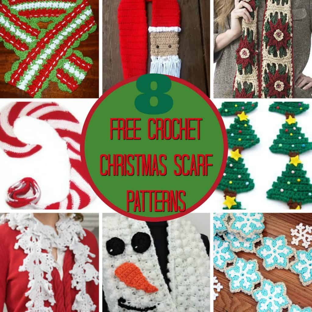 Free Christmas Scarf crochet patterns