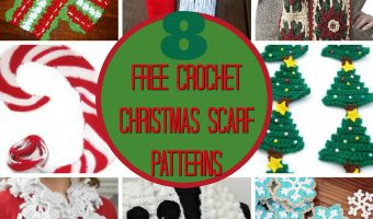 8 Free Christmas Scarf Crochet Patterns