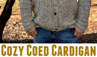 Cozy Coed Cardigan Crochet Pattern (Sizes: Adult Small to 3XL Tall)