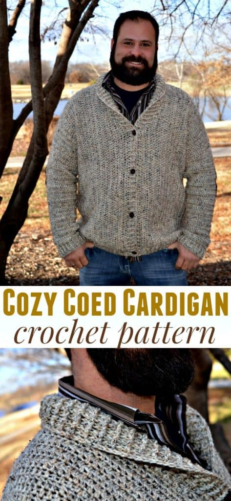 Cozy Coed Cardigan Crochet Pattern Sizes Adult Small To 3xl Tall