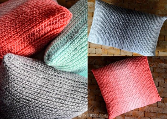 Free Crochet Throw Pillow Patterns : Throw Pillow Cover Free Crochet Pattern