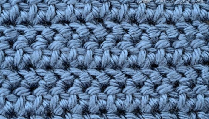 Herringbone Half Double Crochet tutorial