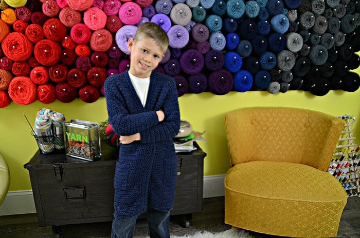 Housecoat for kids crochet pattern
