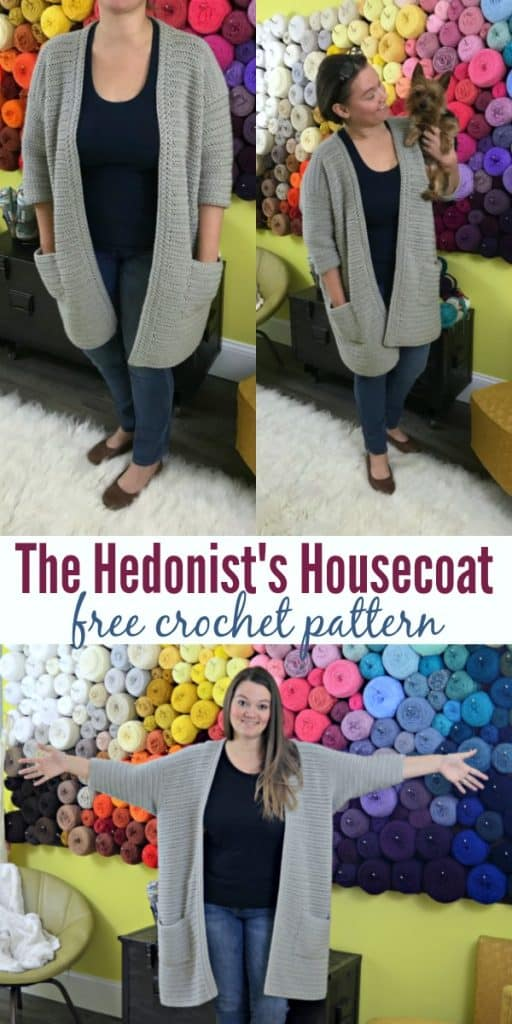 The Hedonist's Housecoat free crochet pattern