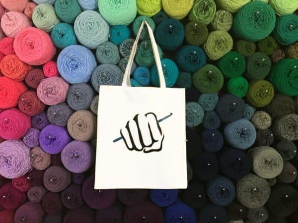 Canvas crochet bag