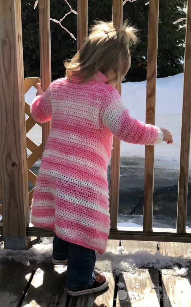 4291a428e947 Toddler Size Blanket Cardigan - Free Crochet Pattern - Size 2 3T