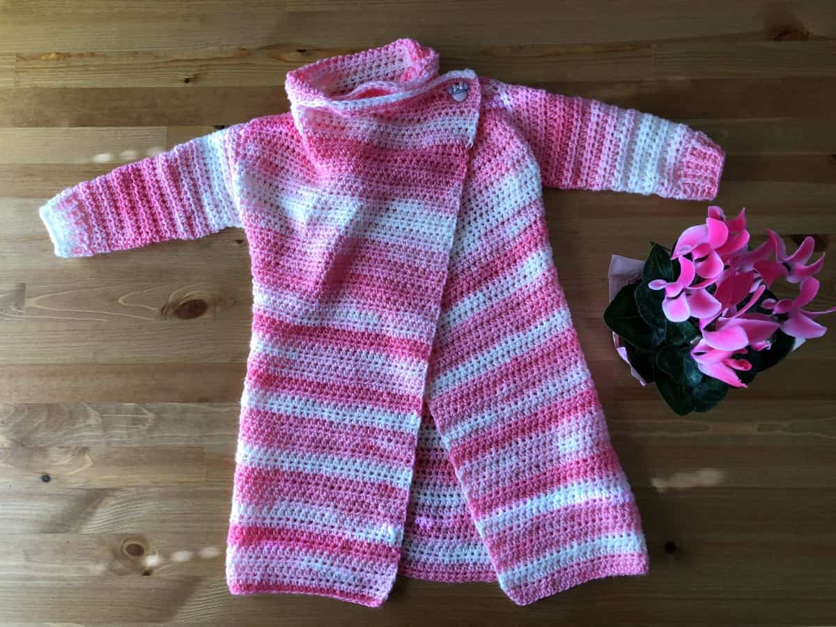 Toddler Size Blanket Cardigan Free Crochet Pattern Size 2 3t