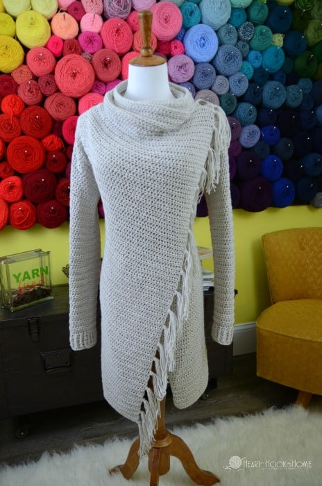 Blanket Cardigan crochet pattern for women