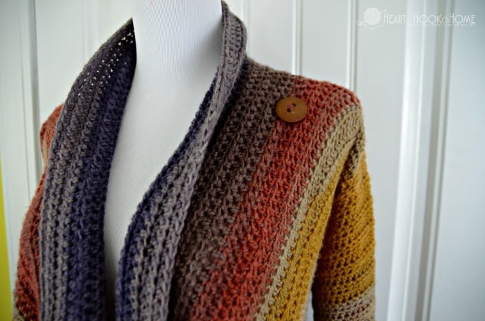 Blanket cardigan using mandala yarn