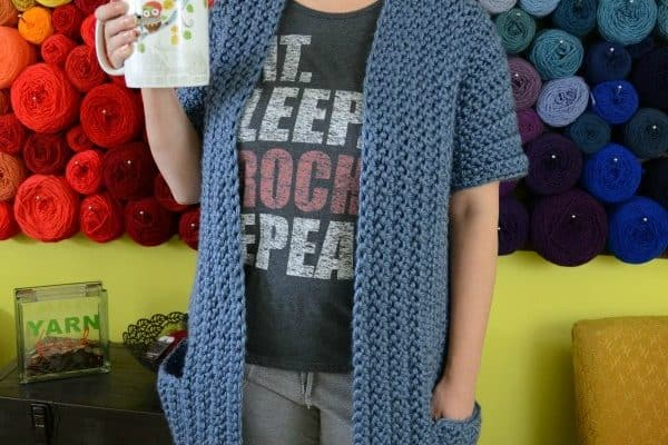 Chunky Housecoat Free Crochet Pattern