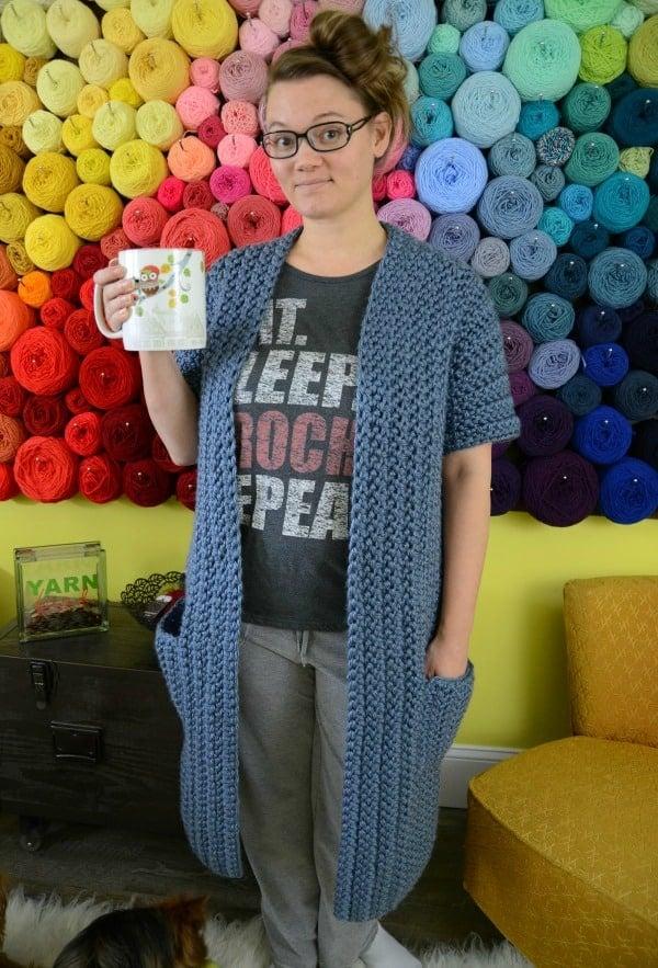 super bulky housecoat crochet pattern
