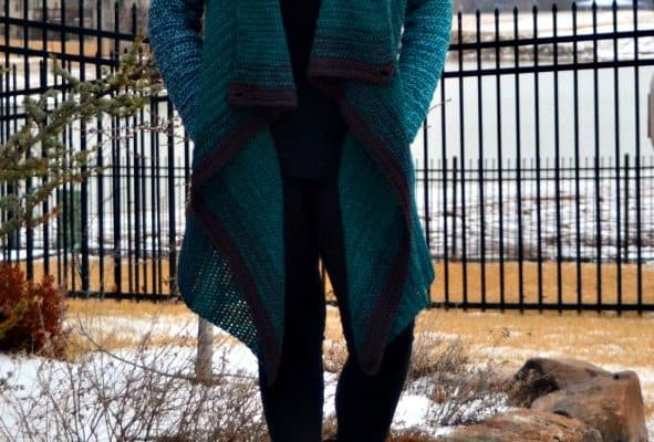 Blanket Cardigan Crochet Pattern Featuring Vertical Rows