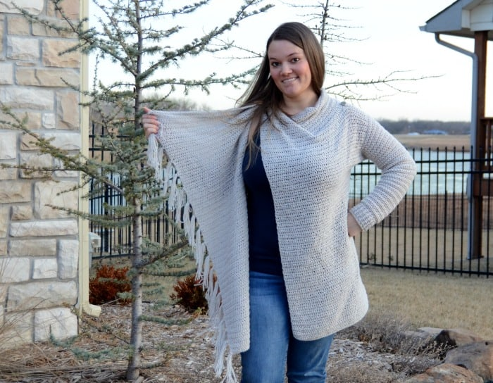 How to wear a blanket cardigan