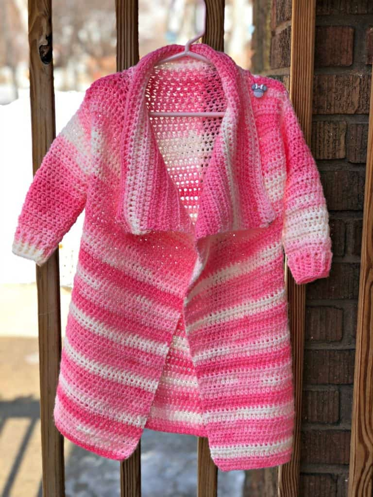 Size 2/3T Blanket Cardigan for Toddlers