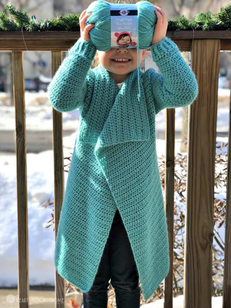 Child Size Blanket Cardigan – Free Crochet Pattern – Size 4/5T