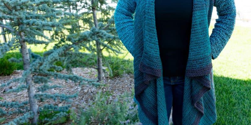 Vertical Blanket Cardigan Crochet Pattern