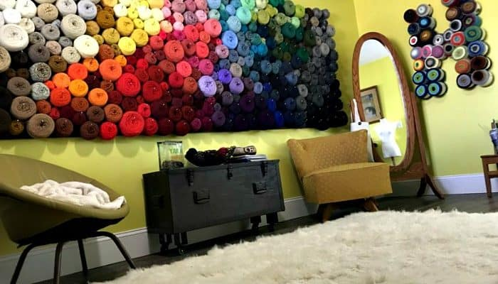 Dream Yarn Room + Craft Room DIY and Tutorials