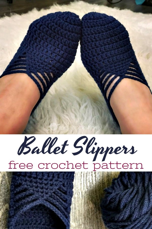 Sunday Ballet Slippers Free Crochet Pattern For Adults