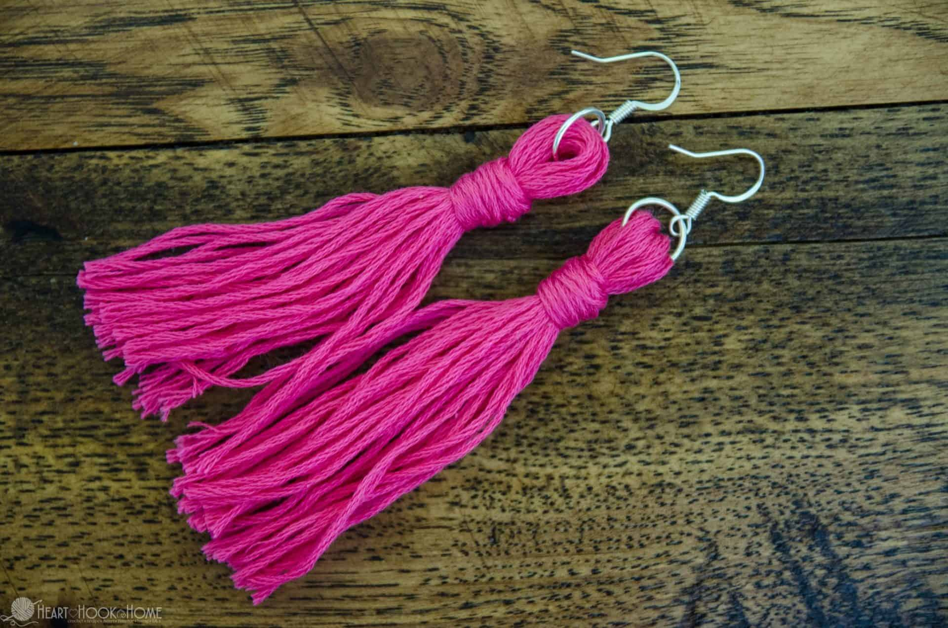 Quick Easy Diy Embroidery Floss Earrings Tutorial