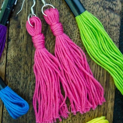 Quick & Easy DIY Embroidery Floss Earrings Tutorial
