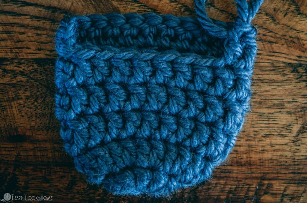 Blue ballet slippers crochet pattern working from the toe up