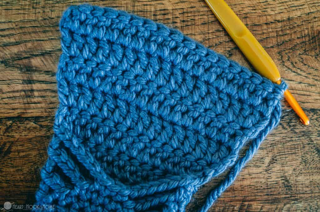 Crocheting the foot of a chunky slipper pattern
