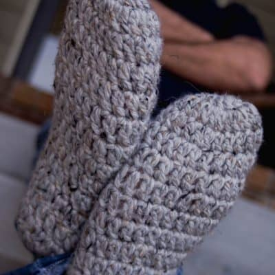 Fast and Free Men's Slippers Crochet Pattern