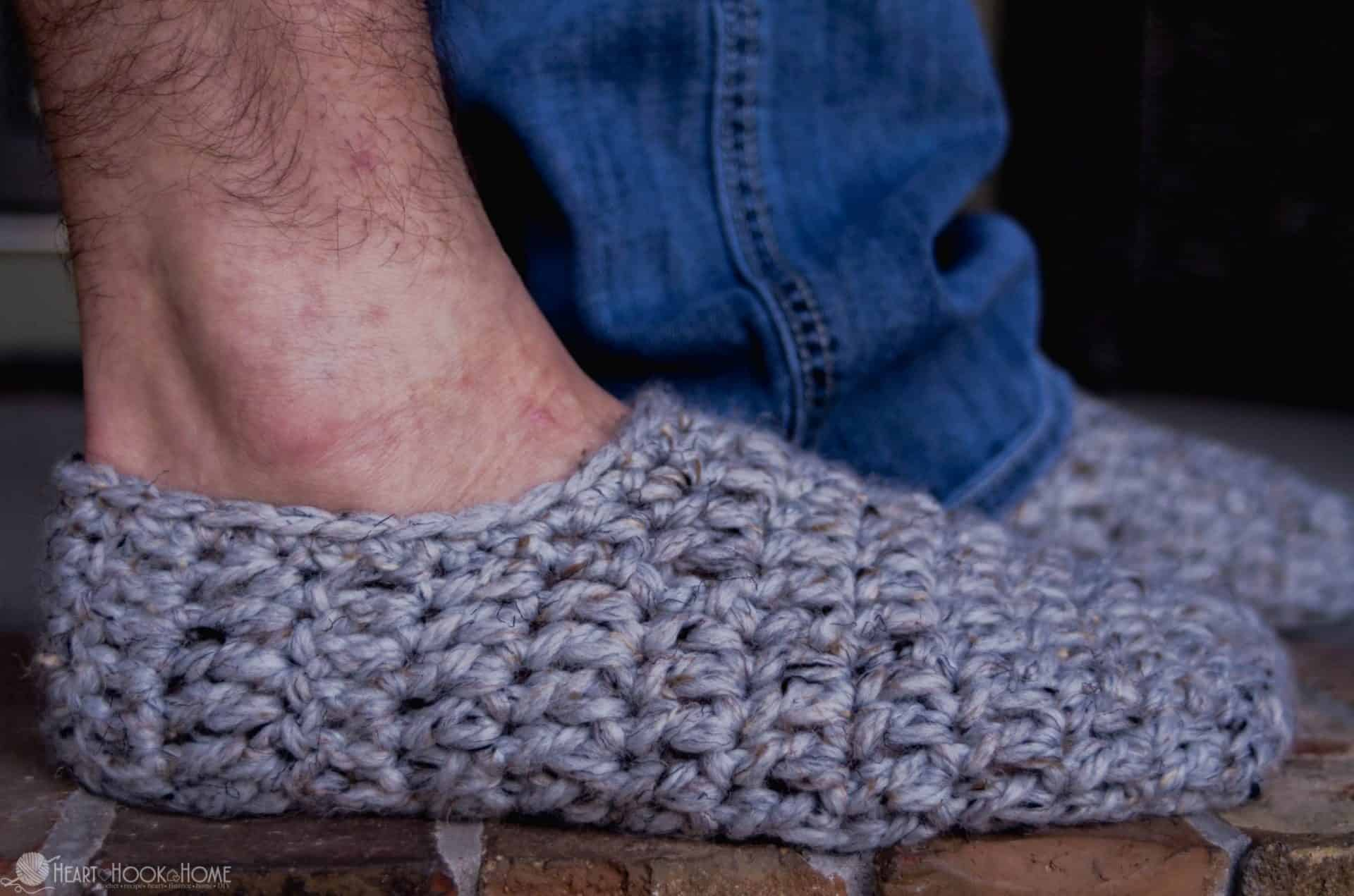 Fast and Free Men\'s Slippers Crochet Pattern