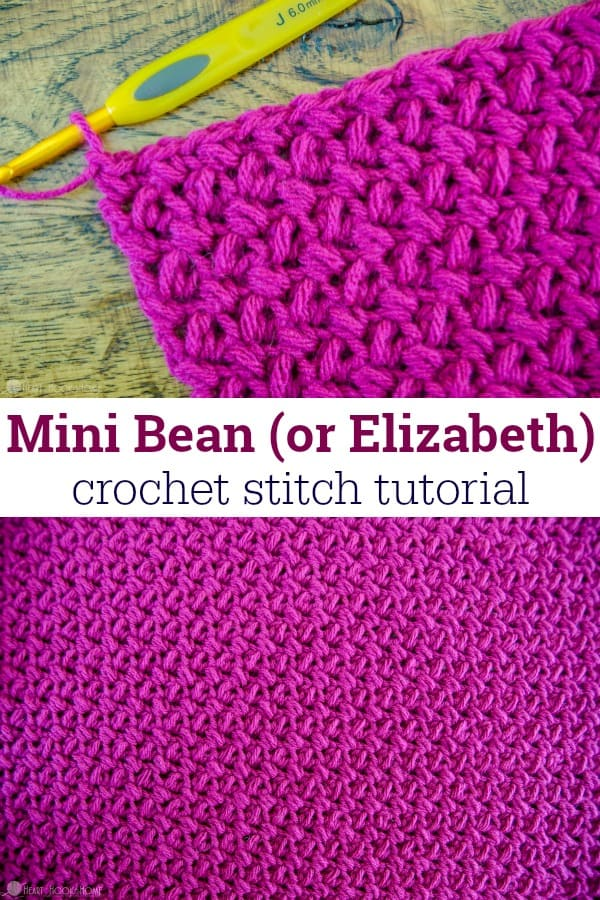 How to Crochet the Mini Bean - or Elizabeth - Crochet Stitch