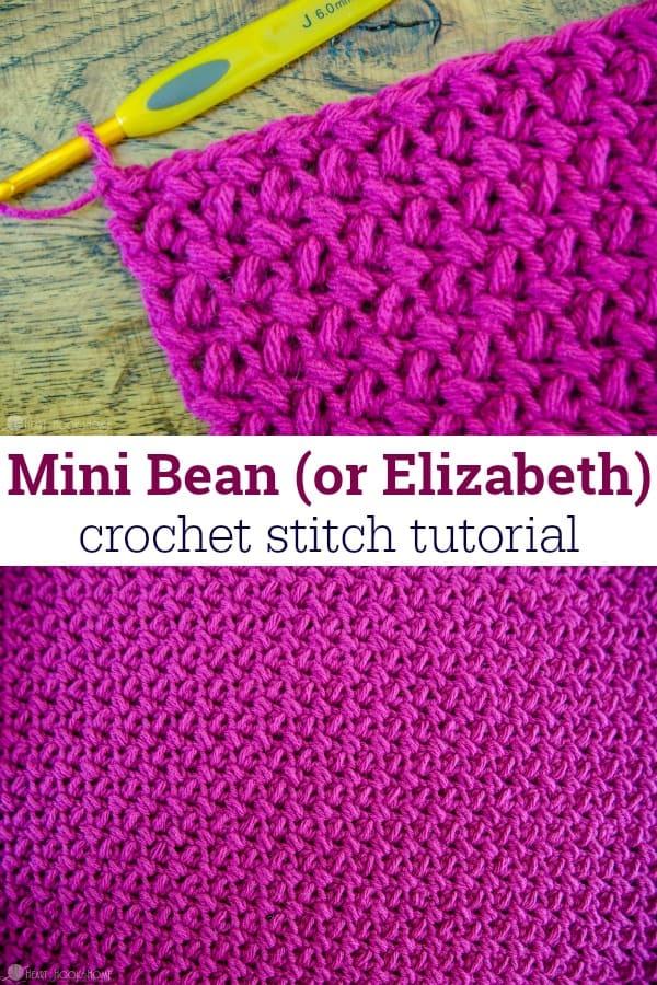 How To Crochet The Mini Bean Stitch Elizabeth Stitch