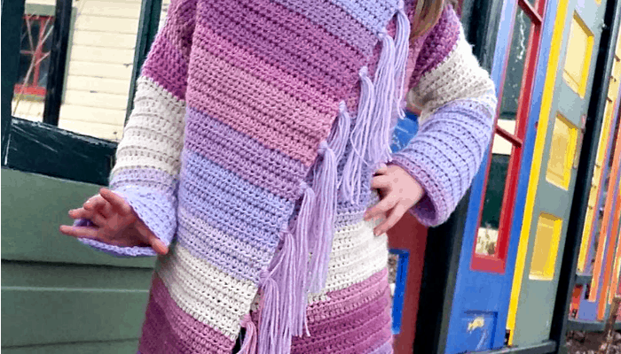 Free Pattern for Child Size Blanket Cardigan