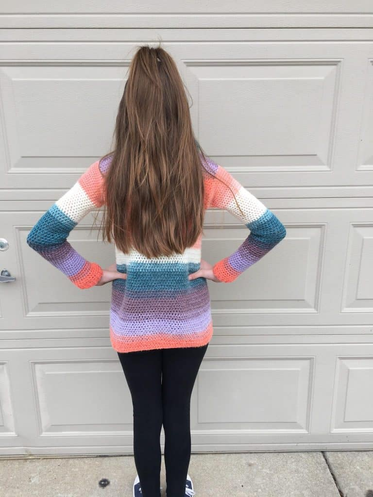 Blanket Cardigan for children - free crochet pattern