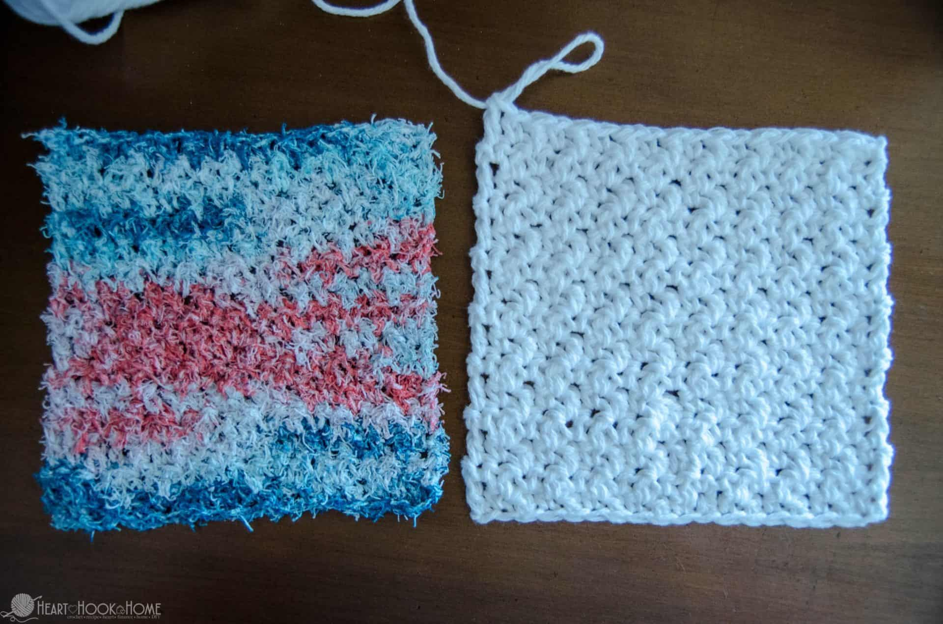 Two-Sided Dishcloth crochet pattern