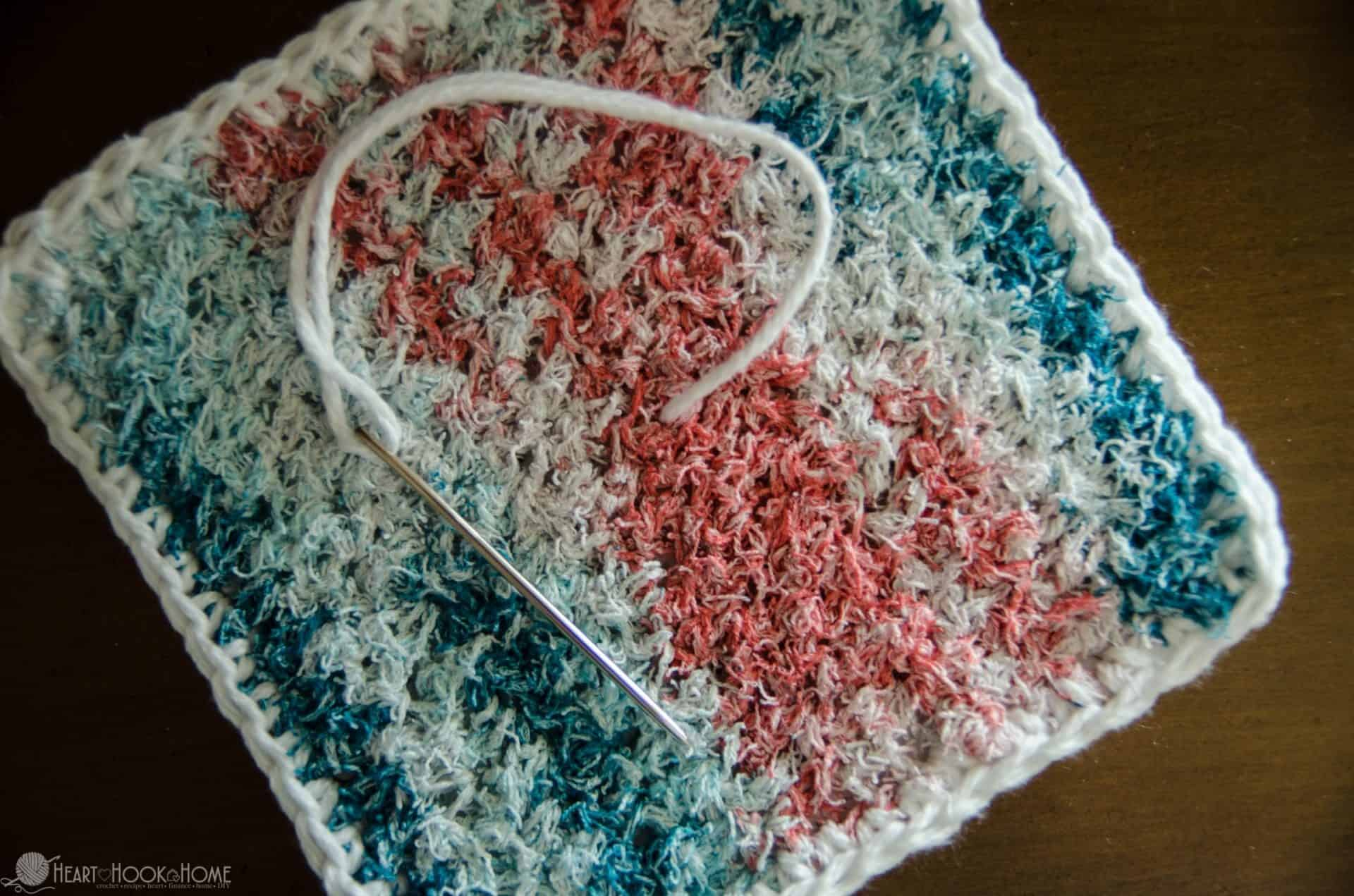 How to make two pieces of dishcloth not come apart