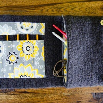 Felted Crochet Hook Case Crochet Pattern