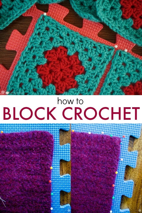 How To Block Crochet Wet Or Steam Blocking Tutorial