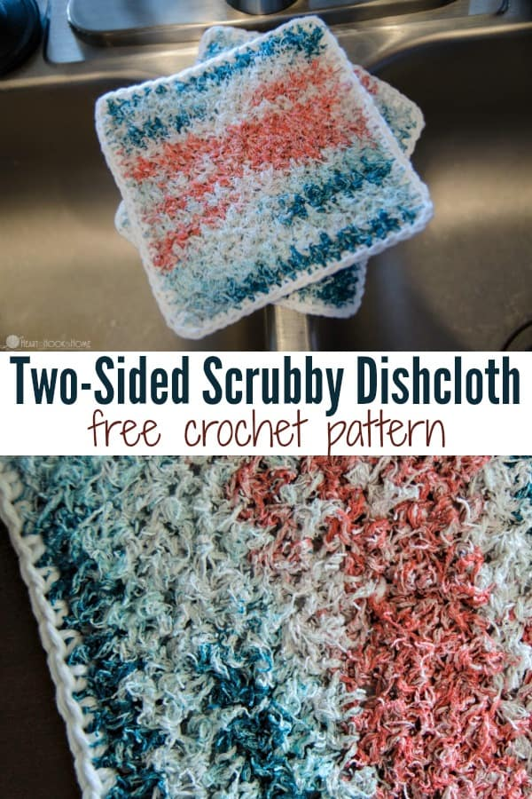 Two-Sided Scrubby Dishcloth Free Crochet Pattern