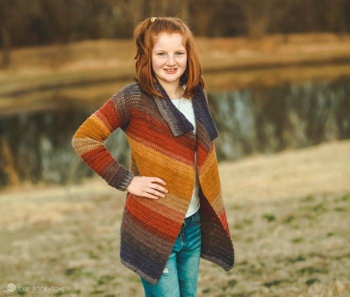 Youth Extra Large Blanket Cardigan