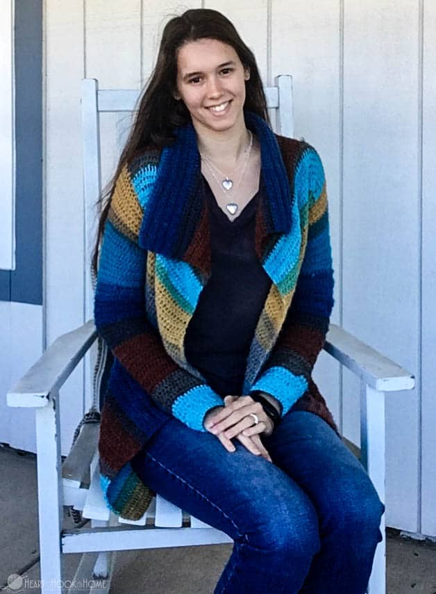 Mandala Blanket Cardigan Free Crochet Pattern
