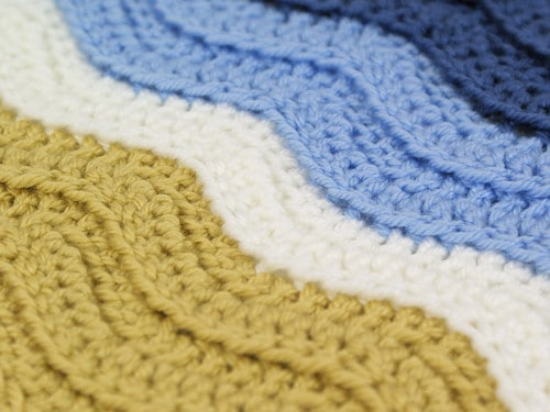 Ribbed Ripple crochet blanket