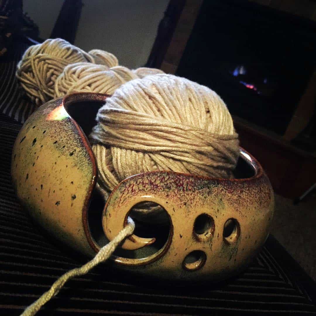 Yarn bowl for crocheting