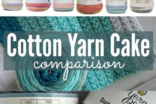 Cotton Cake Yarn Comparison: Caron Cotton Cakes and Sugarwheel Cotton Cakes